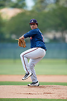 Atlanta Braves pitcher Ramon A. Taveras (71) during a Minor League Extended Spring Training game against the Philadelphia Phillies on April 20, 2018 at Carpenter Complex in Clearwater, Florida.  (Mike Janes/Four Seam Images)