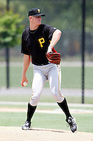 July 13, 2009:  Pitcher Brent Klinger of the GCL Pirates during a game at Tiger Town in Lakeland, FL.  The GCL Pirates are the Gulf Coast Rookie League affiliate of the Pittsburgh Pirates.  Photo By Mike Janes/Four Seam Images