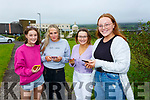 Colaiste na Sceilge leaving cert class of 2020 are delighted with their predictive grade results pictured here checking their results were l-r; Emer Sugrue, Olivia O'Shea, Natalie O'Connor & Sarah Landers.