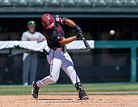 STANFORD, CA - JUNE 4: Tommy Troy during a game between North Dakota State and Stanford Baseball at Sunken Diamond on June 4, 2021 in Stanford, California.