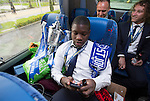 St Johnstone v Dundee United....17.05.14   William Hill Scottish Cup Final<br /> Nigel Hasselbaink on the journey back to Perth<br /> Picture by Graeme Hart.<br /> Copyright Perthshire Picture Agency<br /> Tel: 01738 623350  Mobile: 07990 594431