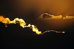 Backlit clouds, Madagascar