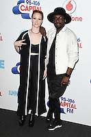 Jess Glynne and Will.I.am<br /> at the Capital Radio Summertime Ball 2016, Wembley Arena, London.<br /> <br /> <br /> ©Ash Knotek  D3132  11/06/2016