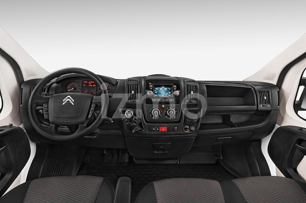 Stock photo of straight dashboard view of a 2015 Citroen JUMPER L2H2 5 Door Cargo Van Dashboard