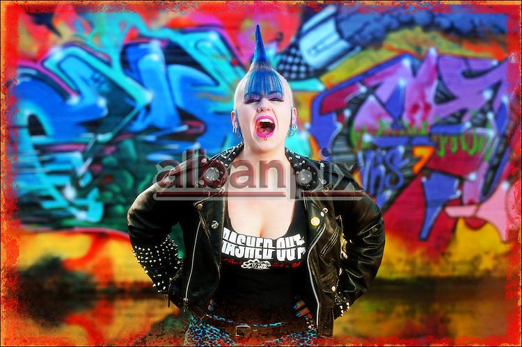 Punk Rocker Emma Keevil from Norwich, Norfolk