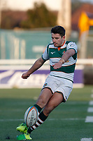 Laurence May of Ealing Trailfinders during the Championship Cup Quarter Final match between Ealing Trailfinders and Nottingham Rugby at Castle Bar , West Ealing , England  on 2 February 2019. Photo by Carlton Myrie / PRiME Media Images.