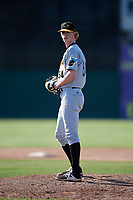 West Virginia Black Bears relief pitcher Shane Kemp (54) gets ready to deliver a pitch during a game against the Batavia Muckdogs on June 25, 2017 at Dwyer Stadium in Batavia, New York.  Batavia defeated West Virginia 4-1 in nine innings of a scheduled seven inning game.  (Mike Janes/Four Seam Images)