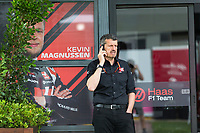 13th March 2020; Melbourne Grand Prix Circuit, Melbourne, Victoria, Australia; Formula One, Australian Grand Prix, Practice Day; Haas team boss Guenther Steiner makes a call
