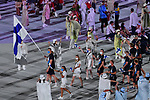 Finland delegation (FIN),<br />JULY 23, 2021 : <br />Tokyo 2020 Olympic Games Opening Ceremony at the Olympic Stadium in Tokyo, Japan. <br />(Photo by MATSUO.K/AFLO SPORT)