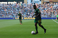 ST PAUL, MN - JULY 24: Dairon Asprilla #27 of the Portland Timbers with the ball during a game between Portland Timbers and Minnesota United FC at Allianz Field on July 24, 2021 in St Paul, Minnesota.
