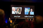St Johnstone FC Hall of Fame Dinner, Perth Concert Hall….03.04.16<br />Applause for Joe Carr and Willie Coburn who sadly passed away<br />Picture by Graeme Hart.<br />Copyright Perthshire Picture Agency<br />Tel: 01738 623350  Mobile: 07990 594431
