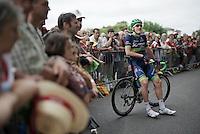 Luke Durbridge (AUS/Orica-BikeExchange) ready at the start of stage 8 in Pau (towards Bagnères-de-Luchon, 184km)<br /> <br /> 103rd Tour de France 2016