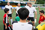 Citibank All Stars coaching clinic during the HKFC Citibank International Soccer Sevens at the Hong Kong Football Club Stadium on May 17, 2012 in Hong Kong. Photo by Mike Pickles / The Power of Sport Images for HKFC
