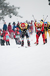 HOLMENKOLLEN, OSLO, NORWAY - March 16: (L) Bryan Fletcher of USA during the cross country 15 km (2 x 7.5 km) competition at the FIS Nordic Combined World Cup on March 16, 2013 in Oslo, Norway. (Photo by Dirk Markgraf)