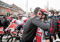 Caleb Ewan (AUS/Lotto-Soudal) wins the 108th Scheldeprijs 2020 (1.Pro) & is congratulated after the finish<br /> <br /> 1 day race from Schoten to Schoten BEL (173km)<br /> <br /> ©kramon