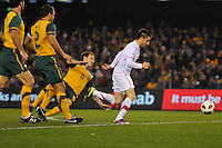 MELBOURNE, AUSTRALIA - JUNE 7: Zoran Tosic of Serbia runs with the ball during an international friendly match between the Qantas Australian Socceroos and Serbia at Etihad Stadium on June 7, 2011 in Melbourne, Australia. Photo by Sydney Low / AsteriskImages.com