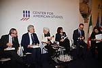 """ARMANDO BARUCCO, MASSIMO D'ALEMA, EMMA BONINO, NADIA URBINATI, MASSIMO TARANTINO E LUCIA ANNUNZIATA<br /> CONVEGNO """"THINKING DEMOCRACY NOW"""" DELLA FONDAZIONE FELTRINELLI <br /> CENTRO STUDI AMERICANI ROMA 2020"""