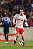 Harrison, NJ - Wednesday Feb. 22, 2017: Sacha Kljestan during a Scotiabank CONCACAF Champions League quarterfinal match between the New York Red Bulls and the Vancouver Whitecaps FC at Red Bull Arena.