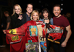 """Angie Schworer, Matt Wall, Erica Mansfield, Cameron Adams, Marty Lawson during the Broadway Opening Night Legacy Robe Ceremony honoring Erica Mansfield for  """"Kiss Me, Kate""""  at Studio 54 on March 14, 2019 in New York City."""