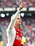 Nederland, Amsterdam, 10 mei 2015<br /> Eredivisie<br /> Seizoen 2014-2015<br /> Ajax-SC Cambuur<br /> Viktor Fischer van Ajax juicht, nadat hij de 2-0 heeft gescoord.