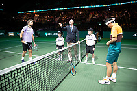 Rotterdam, The Netherlands, 16 Februari 2019, ABNAMRO World Tennis Tournament, Ahoy, Semis, Kei Nishikori (JPN) - Stan Wawrinka (SUI),<br /> Photo: www.tennisimages.com/Henk Koster