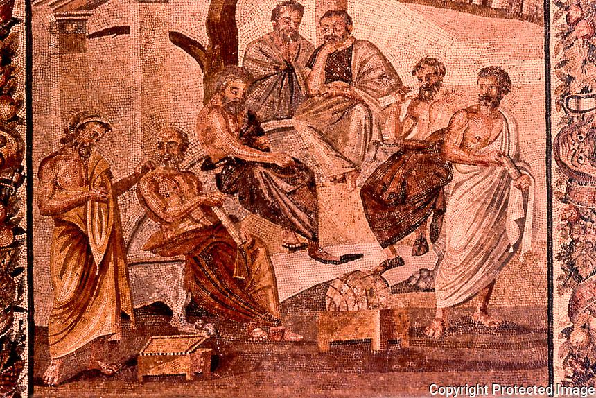 Roman Art:  Mosaic--The Academy of Platone.  National Museum, Naples.