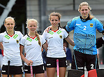 GER - Mannheim, Germany, May 24: Before the U16 Girls match between Australia (green) and Germany (white) during the international witsun tournament on May 24, 2015 at Mannheimer HC in Mannheim, Germany. Final score 0-6 (0-3). (Photo by Dirk Markgraf / www.265-images.com) *** Local caption ***