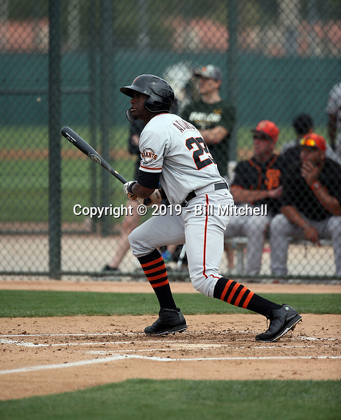 Kwan Adkins - San Francisco Giants 2019 spring training (Bill Mitchell)