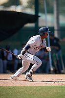 Detroit Tigers Alexis Garcia (73) at bat during an Instructional League game against the Atlanta Braves on October 10, 2017 at the ESPN Wide World of Sports Complex in Orlando, Florida.  (Mike Janes/Four Seam Images)