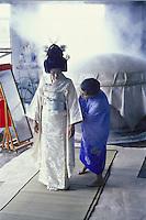 Japanese bride & Kimono dresser