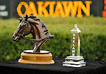 Scenes (the winner's trophies for the Rebel Stakes and the Azeri Stakes) and horse racing personalities from around the track during Rebel Stakes Day on March 19, 2011 at Oaklawn Park in Hot Springs, Arkansas.  (Bob Mayberger/Eclipse Sportswire)