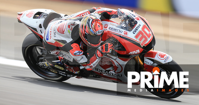 Takaaki Nakagami (30) of the LCR Honda IDEMITSU race team during the GoPro British MotoGP at Silverstone Circuit, Towcester, England on 24 August 2018. Photo by Chris Brown / PRiME Media Images