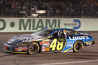 HOMESTEAD, FL - NOVEMBER 19, 2006:   Jimmie Johnson, at the NASCAR Nextel Cup Series Ford 400, on November 19, 2006 at Homestead-Miami Speedway in Homestead, Florida<br /> <br /> <br /> People:  Jimmie Johnson