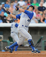 July 7, 2008: Infielder Anthony Seratelli (44) of the Wilmington Blue Rocks, Class A affiliate of the Kansas City Royals, in a game against the Myrtle Beach Pelicans at BB&T Coastal Field in Myrtle Beach, S.C. Photo by:  Tom Priddy/Four Seam Image