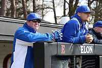 ELON, NC - FEBRUARY 28: Head coach Mitch Hannahs of Indiana State University during a game between Indiana State and Elon at Walter C. Latham Park on February 28, 2020 in Elon, North Carolina.