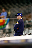 21 September 2012: Jean-Christophe Tine is seen during France vs South Africa tie game 2-2, rain delayed at the end of the 9th inning at 1 AM, during the 2012 World Baseball Classic Qualifier round, in Jupiter, Florida, USA. Game to resume 22 September 2012 at noon.
