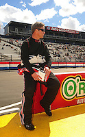 Feb. 26, 2011; Pomona, CA, USA; NHRA funny car driver Mike Neff during qualifying at the Winternationals at Auto Club Raceway at Pomona. Mandatory Credit: Mark J. Rebilas-.