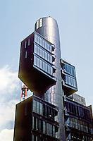 Tokyo: Shizuoka Shimbun Branch Office (newspaper)--upper part. Photo '81.