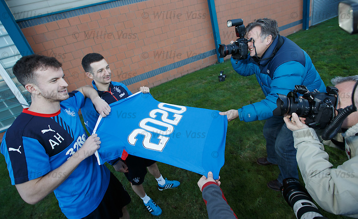 Andy Halliday and Jason Holt sign extended contracts with Rangers through to 2020