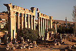 July 2010, LEBANON: A colonnaded archway stands in the afternoon light amidst the Bekaa Valley's famed  Roman ruins.Picture by Graham Crouch
