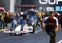 Jul 30, 2017; Sonoma, CA, USA; NHRA top fuel driver Steve Torrence during the Sonoma Nationals at Sonoma Raceway. Mandatory Credit: Mark J. Rebilas-USA TODAY Sports