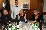 """SILVI BERLUSCONI TRA SILVANA PREVITI E SIMONETTA VERDINI<br /> 75° COMPLEANNO DI LINO JANNUZZI - """"DA FORTUNATO AL PANTHEON"""" ROMA 2003"""