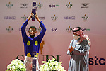February 19 2021: Local jockey A. Flfouraidi takes second place in the Jockeys Challenge. Scenes from King Abddulaziz Racetrack, Riyadh, Saudi Arabia. Shamela Hanley/Eclipse Sportswire
