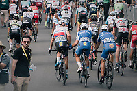 Zdenek Stybar (CZE/Quick-Step Floors), Matteo Trentin (ITA/Quick-Step Floors) & Philippe Gilbert (BEL/Quick Step floors) rolling out behind the peloton hearing teammate Marcel Kittel won the stage<br /> <br /> 104th Tour de France 2017<br /> Stage 7 - Troyes › Nuits-Saint-Georges (214km)