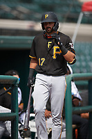 Pittsburgh Pirates Dylan Busby (17) during a Florida Instructional League game against the Detroit Tigers on October 16, 2020 at Joker Marchant Stadium in Lakeland, Florida.  (Mike Janes/Four Seam Images)