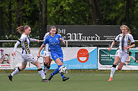 Alysson Duterne (14) of Sporting Charleroi and Emily Steijvers (33) of KRC Genk pictured during a female soccer game between Sporting Charleroi and Eendracht Aalst on the 8th matchday in play off 2 of the 2020 - 2021 season of Belgian Scooore Womens Super League , tuesday 18 th of May 2021 in Marcinelle , Belgium . PHOTO SPORTPIX.BE | SPP | STIJN AUDOOREN
