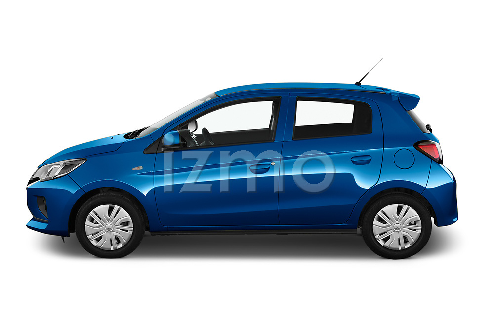 Car Driver side profile view of a 2020 Mitsubishi Space-Star IN 5 Door Hatchback Side View