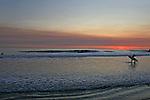 The sun set off Rodeo Beach at Fort Cronkite California.