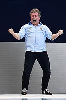 BIRO Attila coach of Hungary celebrates <br /> Budapest 25/01/2020 Duna Arena <br /> HUNGARY (white caps) Vs. NETHERLANDS (blue caps) Women <br /> Final 3rd - 4th place <br /> XXXIV LEN European Water Polo Championships 2020<br /> Photo  © Andrea Staccioli / Deepbluemedia / Insidefoto