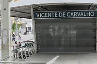 Rio de Janeiro (RJ), 01/02/2021 - Transporte-Rio - Várias estações do sistema BRT está parado nesta segunda-feira (01) no Rio de janeiro sem previsão de retorno . Segundo o consórsio que administra o tranporte alguns motoristas impediram a saida dos ônibus das garagens em protesto contra atraso de salarios, não existe uma previsão para regularização da atividade.